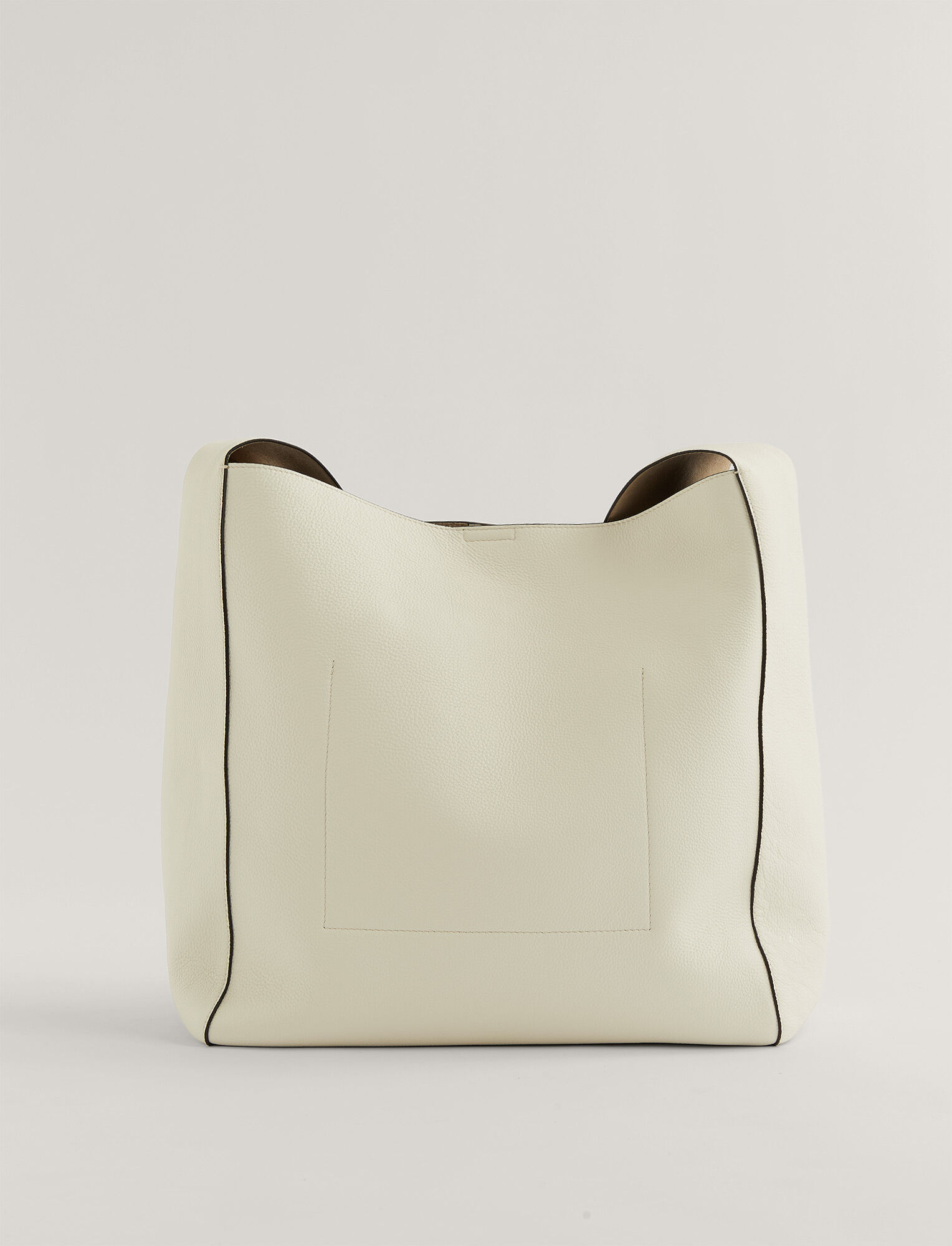 Joseph, Slouch XL Grain Leather Bag, in Off White