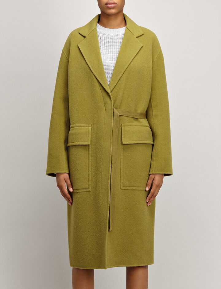 Joseph, Blanket Wool Silla Coat, in PEA