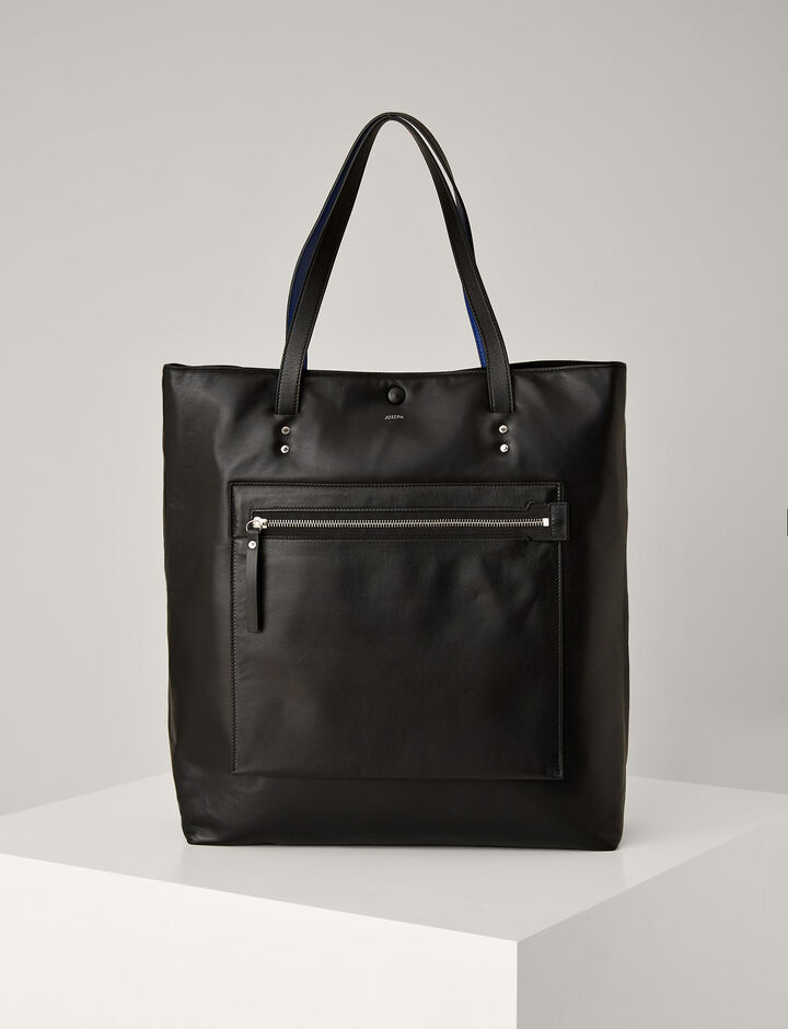 Joseph, Sac Jacob en cuir nappa, in BLACK
