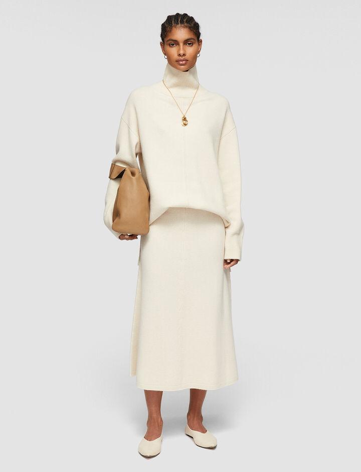 Joseph, Soft Wool Skirt, in IVORY