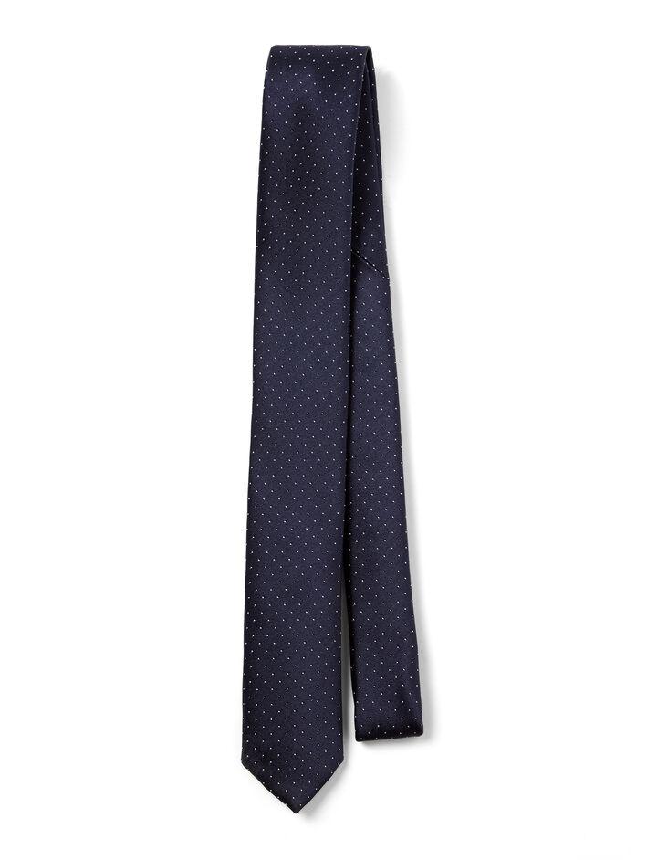 Joseph, Dot Silk Tie, in NAVY