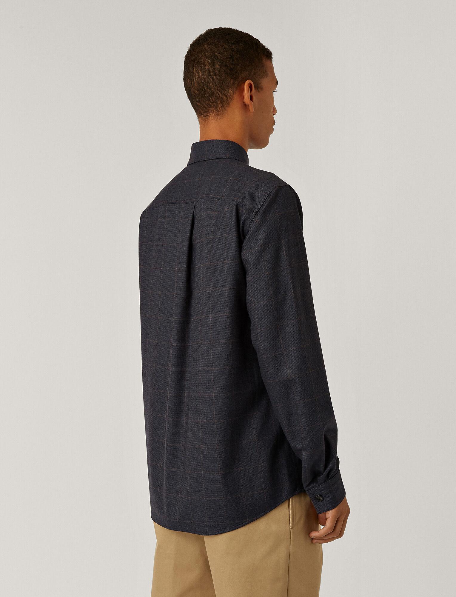 Joseph, Flannel Stretch Shirt, in NAVY