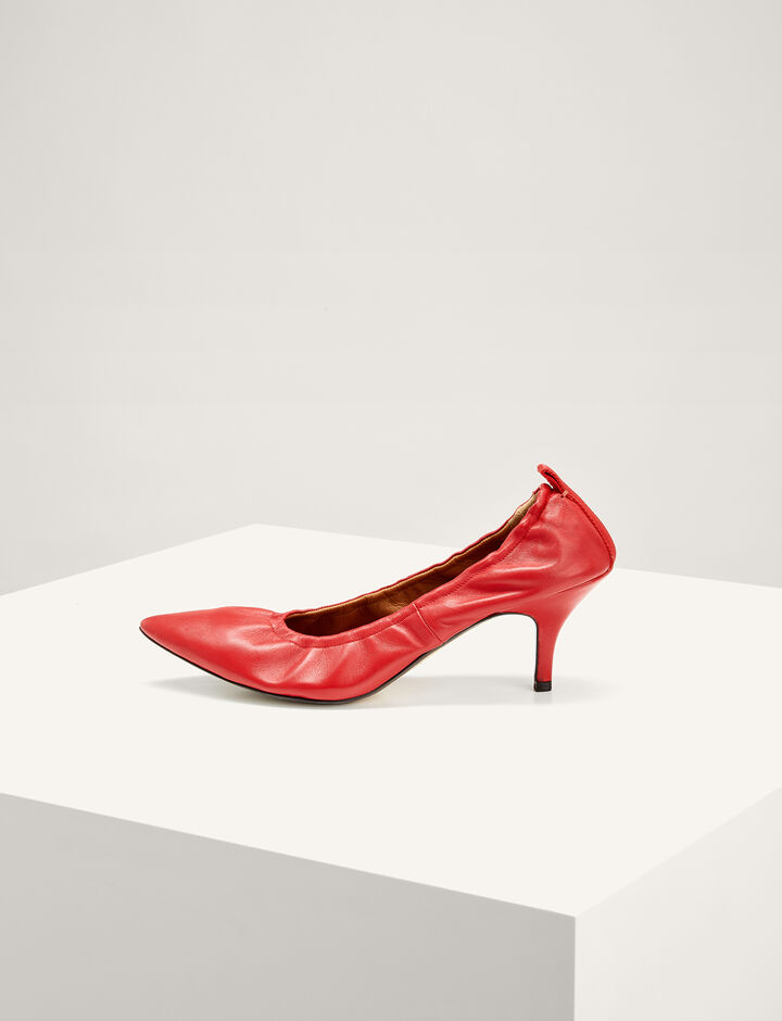 Joseph, The Dallin Kitten Heel Pumps, in RED