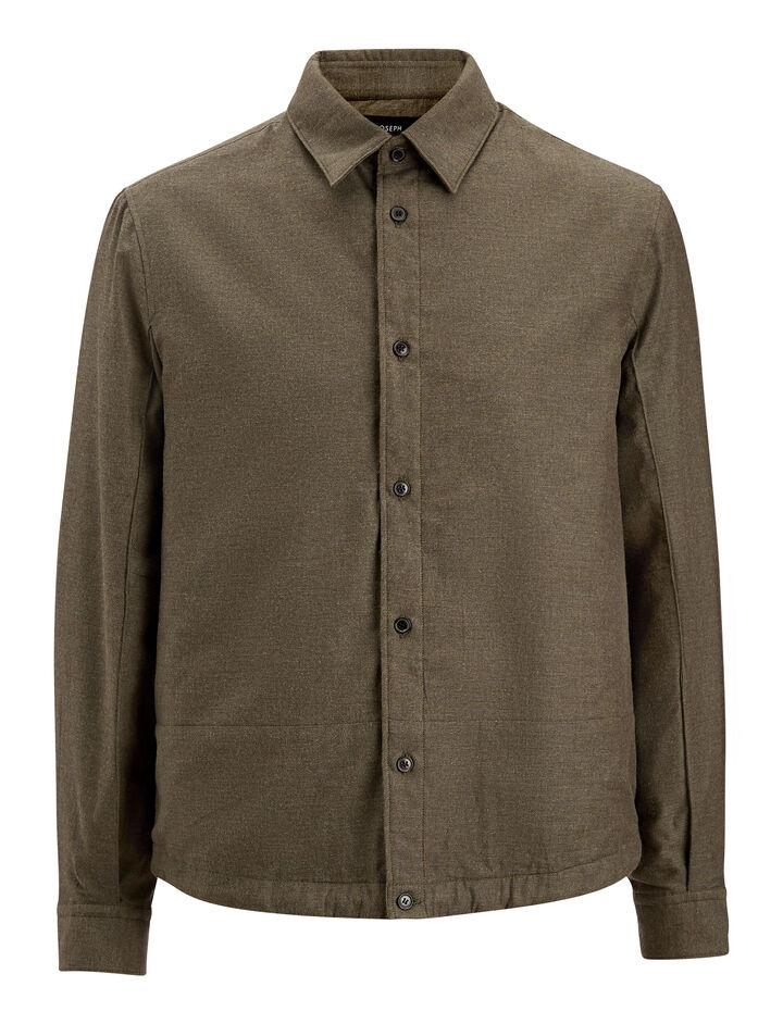 Joseph, Jules Simon Flannel Shirt, in MILITARY