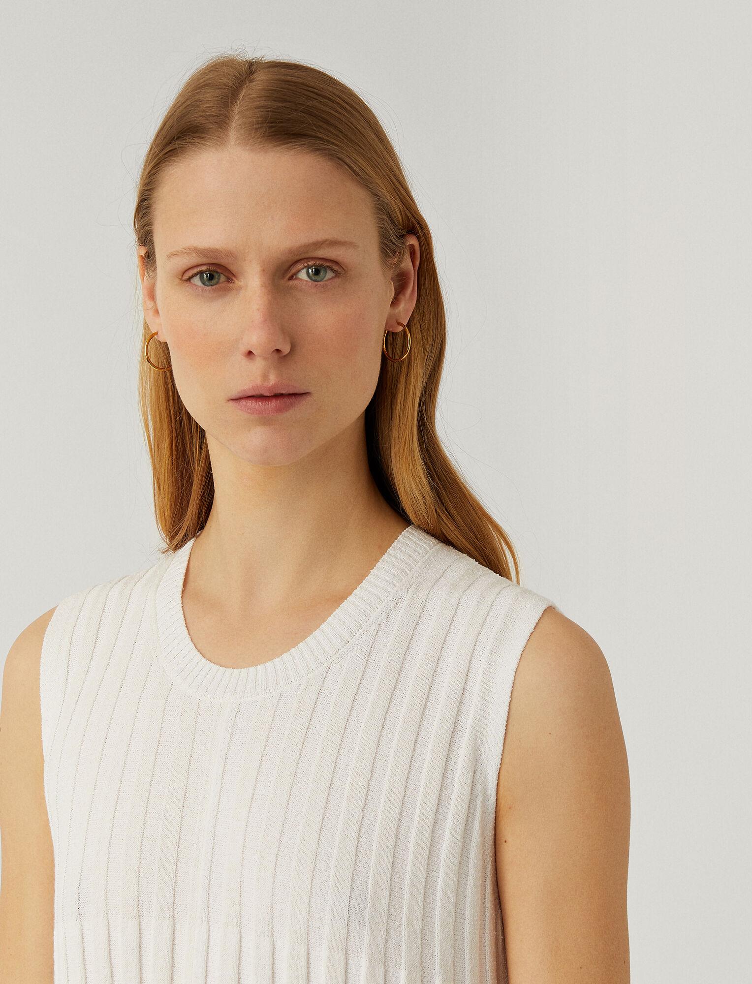Joseph, Textured Rib Dress, in OFF WHITE