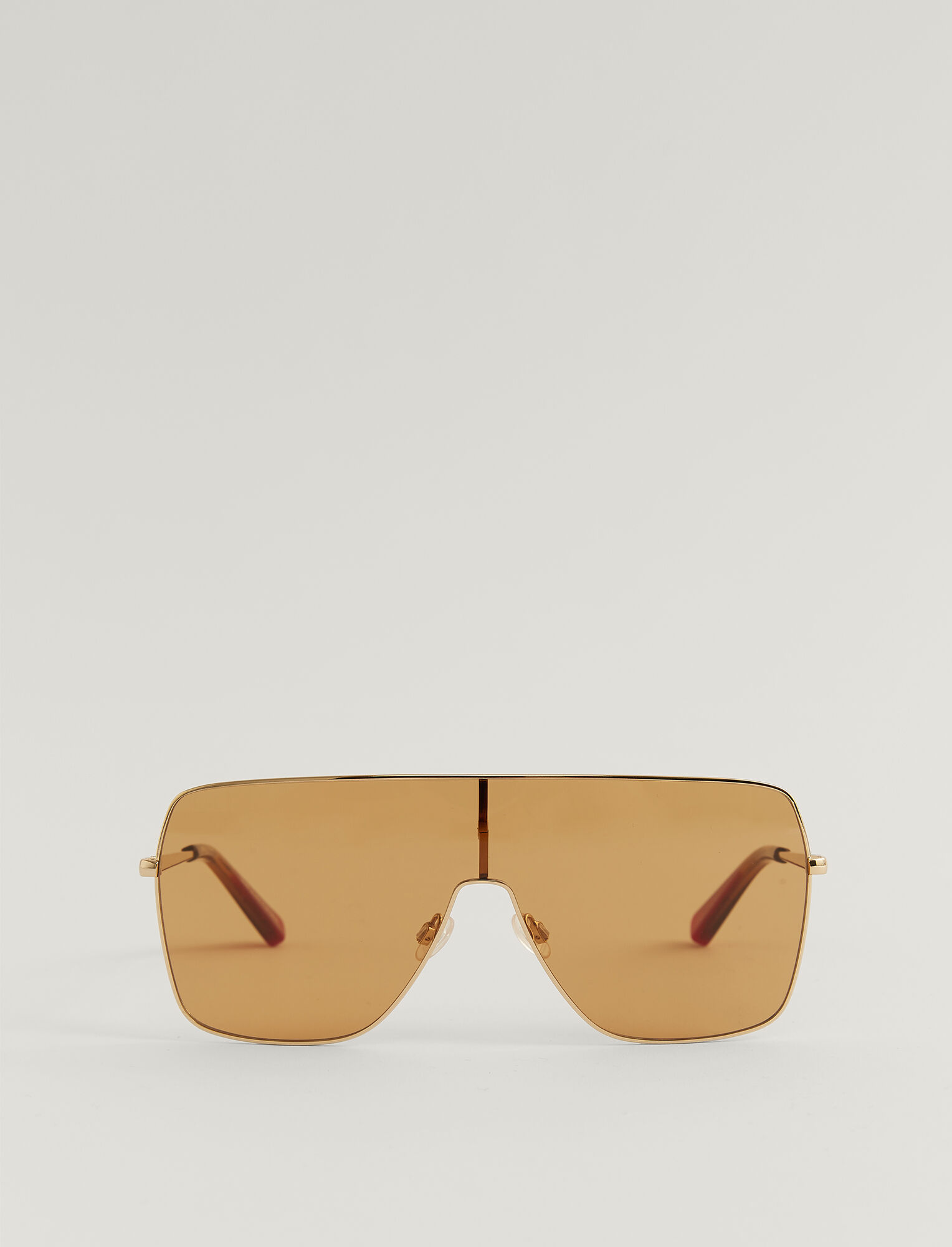 Joseph, Oversized D-Frame Sunglasses, in HONEY