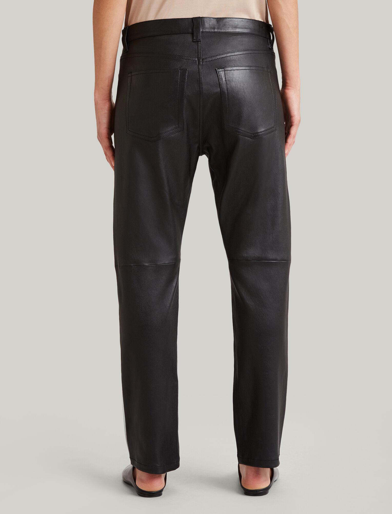 Joseph, Kemp Stretch Leather Trousers, in BLACK