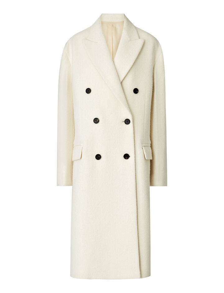 Joseph, Arles Wool Alpaca Coat, in CREAM