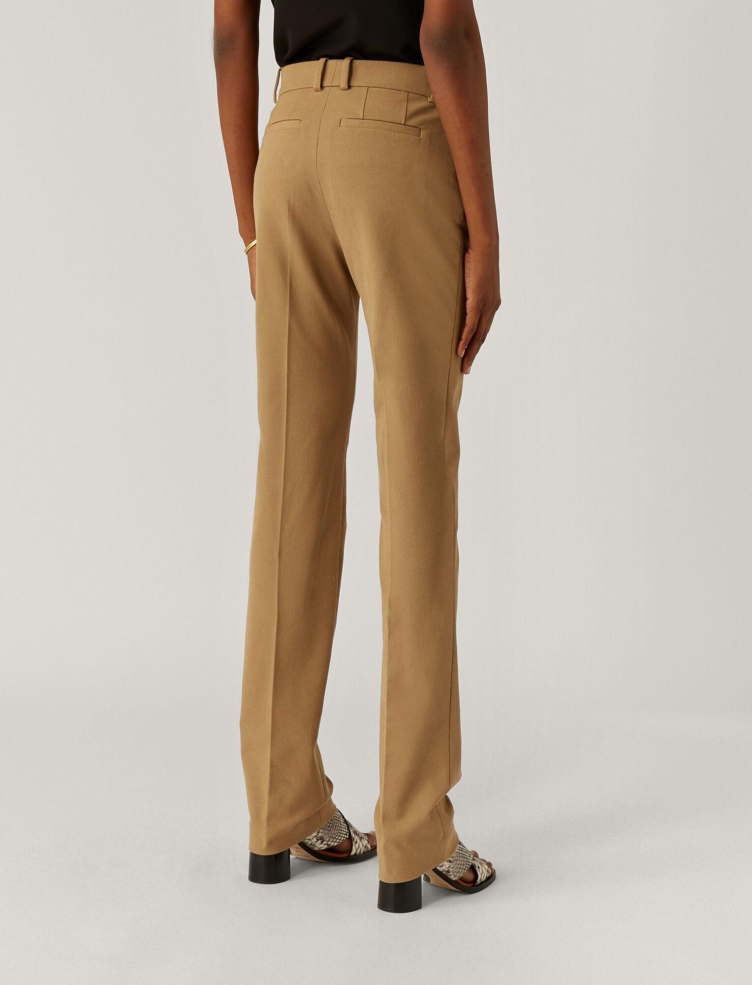Joseph, Pantalon Cole en gabardine stretch, in CAMEL