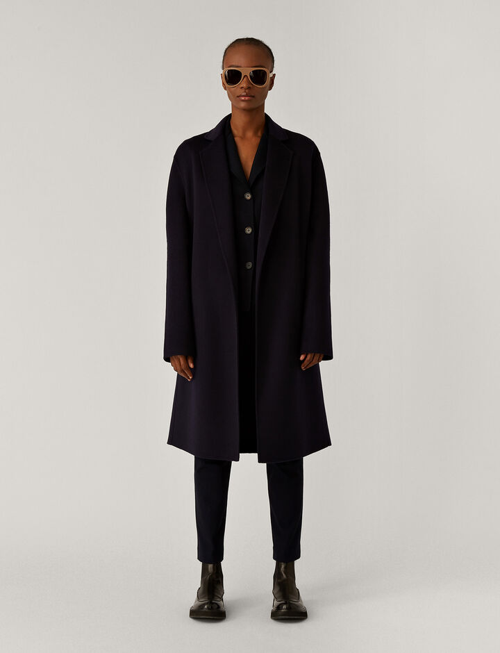 Joseph, Cenda Long Dbl Face Cashmere Coats, in Navy
