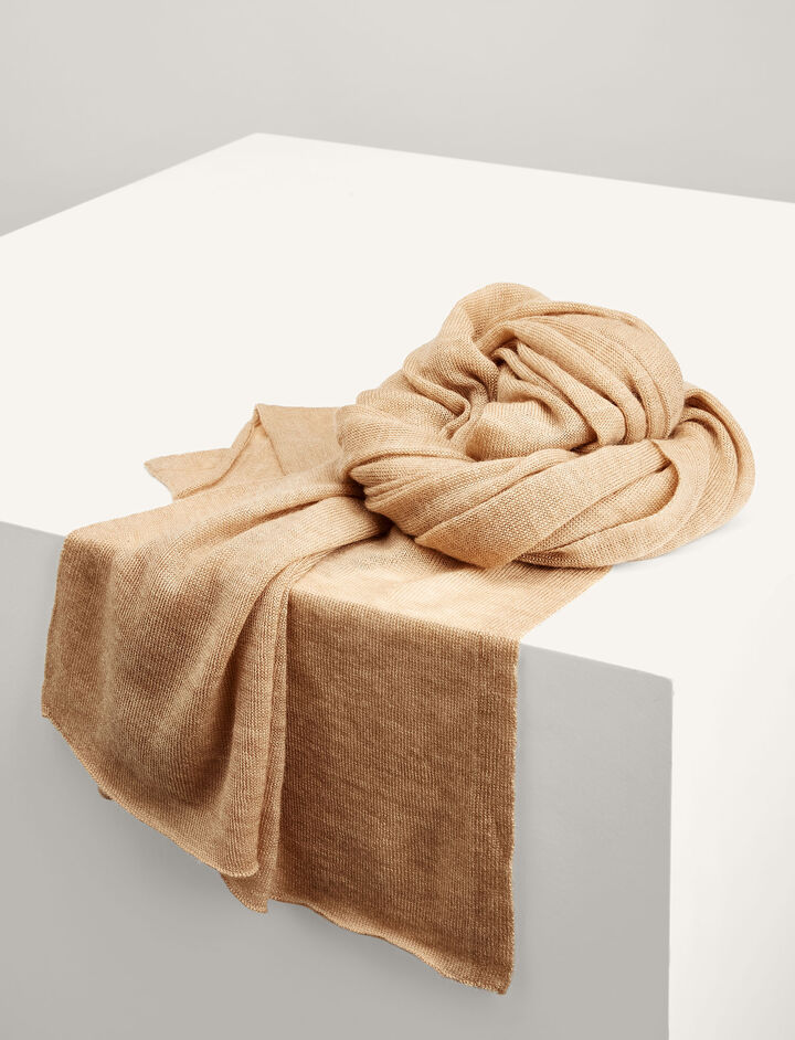 Joseph, Cashair Scarf Tube, in CAMEL