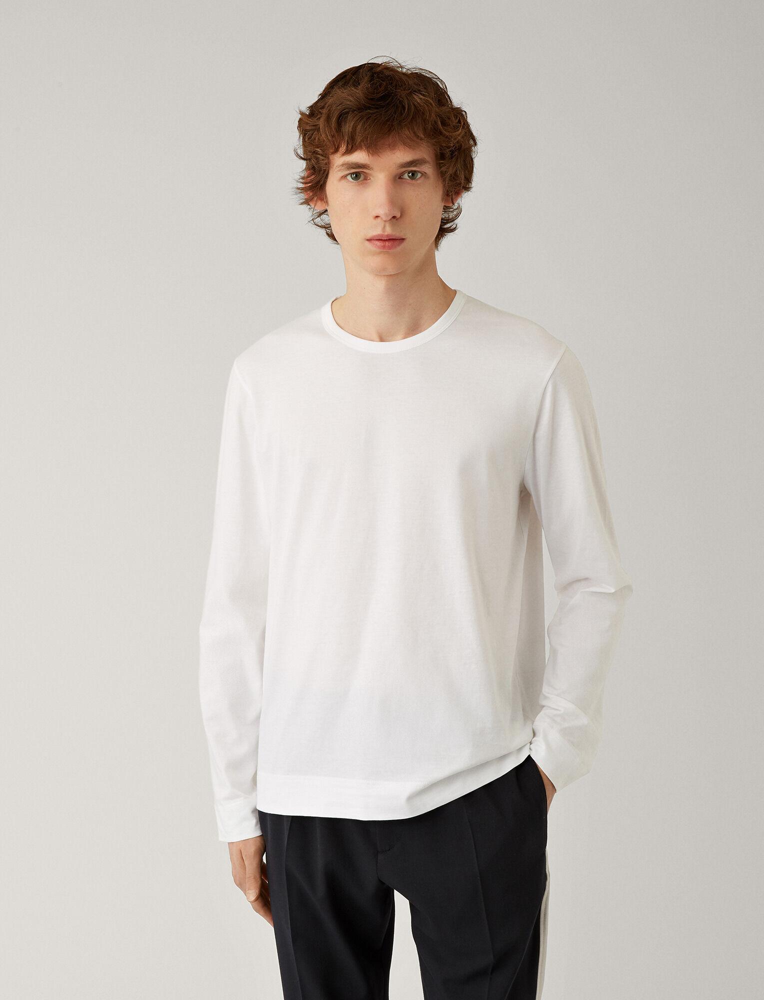 Joseph, Mercerised Jersey Top, in WHITE