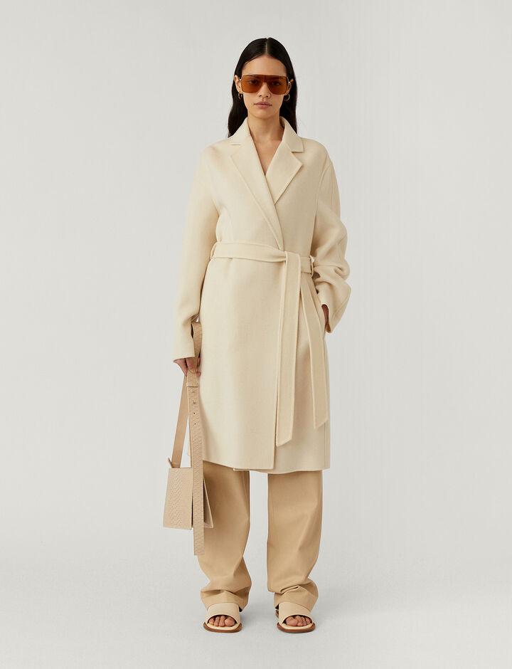 Joseph, Cenda Long Dbl Face Cashmere Coats, in Ivory