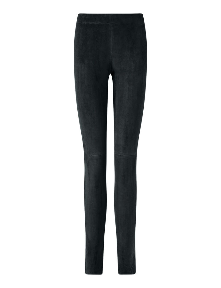 Joseph, Legging Suede Stretch Trousers, in Petrol