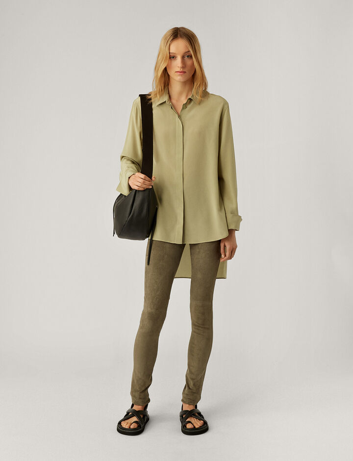 Joseph, Legging-Suede Stretch, in OLIVE