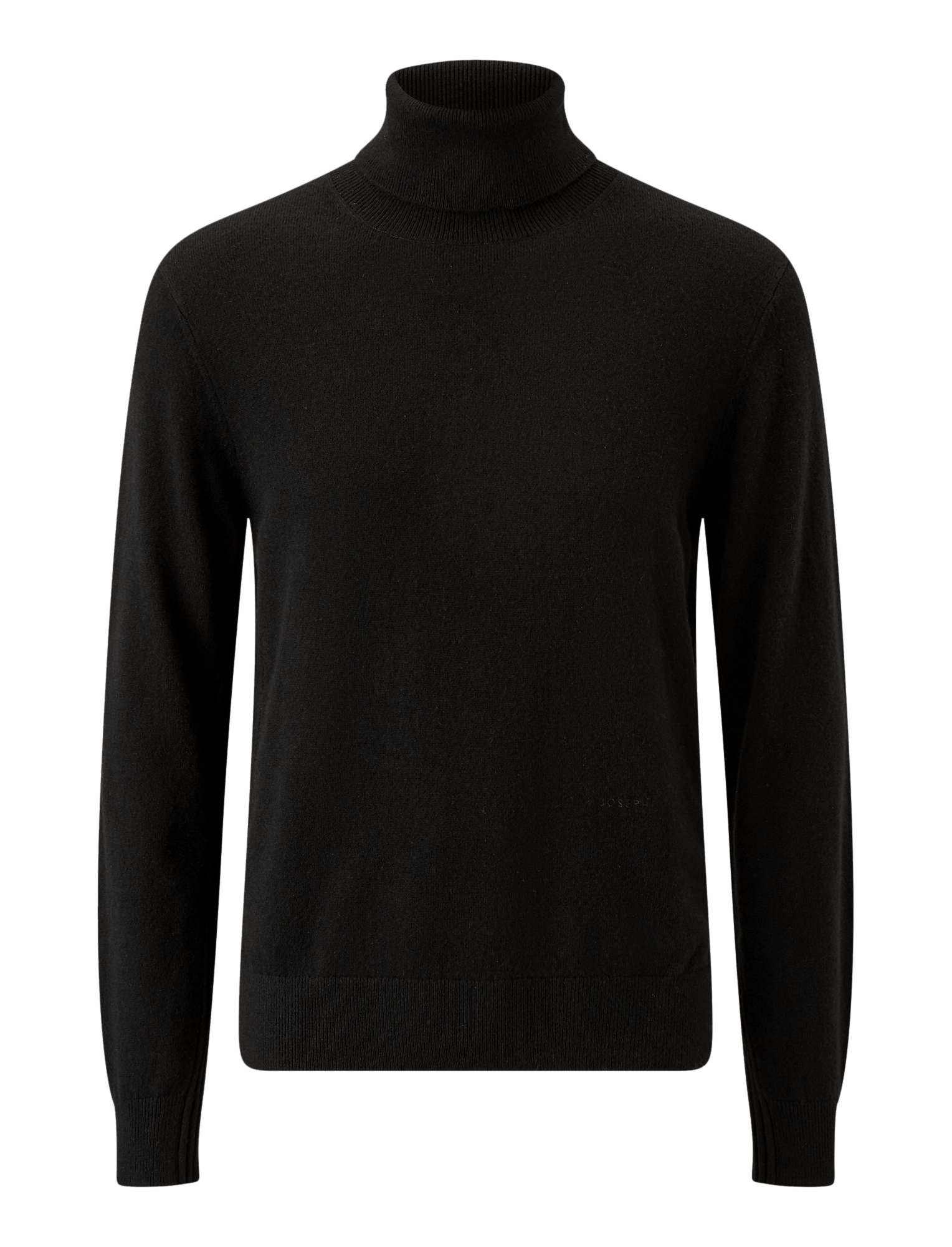 Joseph, High Neck Mongolian Cashmere Knit, in BLACK