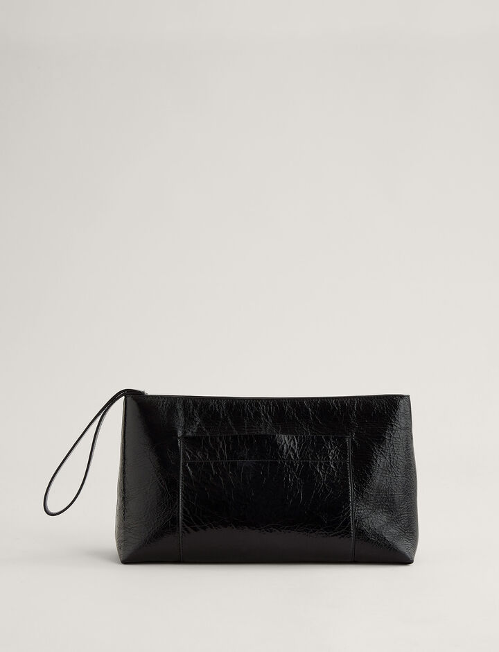 Joseph, Westbourne Clutch-Leather, in BLACK