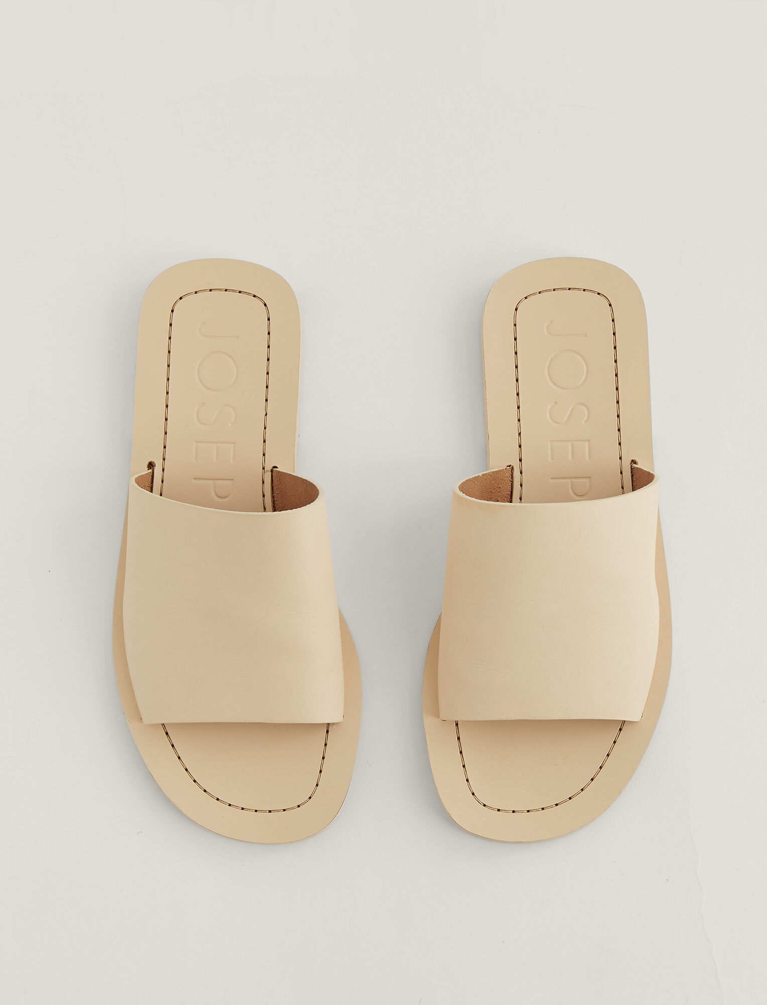 Joseph, Jannah Leather Sandal, in OFF WHITE