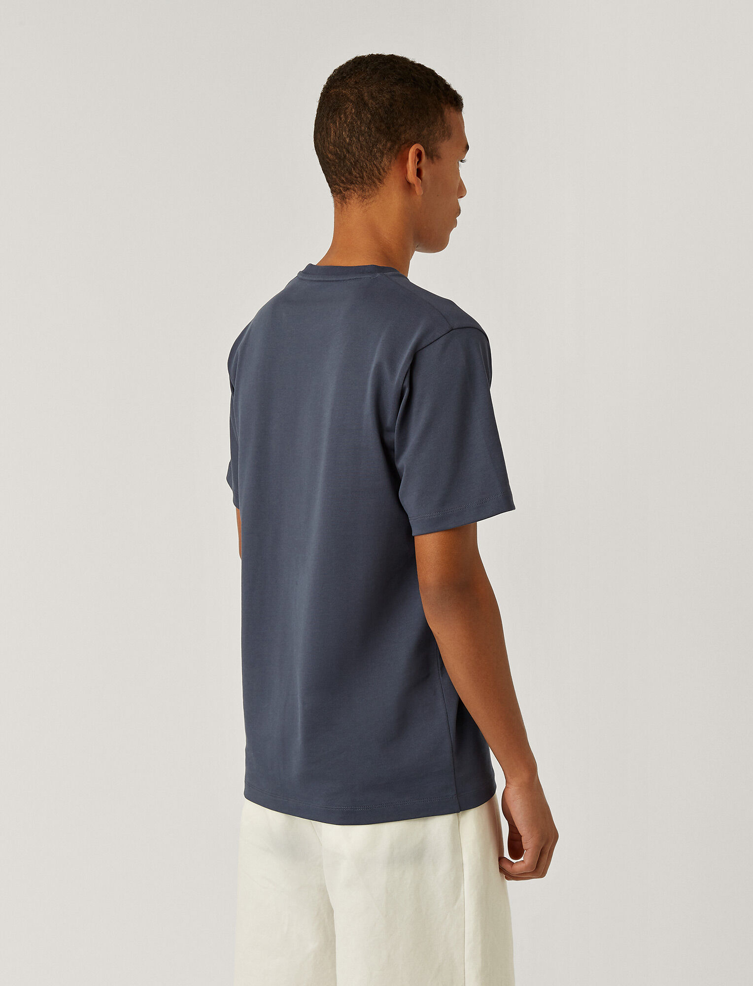 Joseph, Soft Organic Jersey T Shirt, in BLUE STEEL