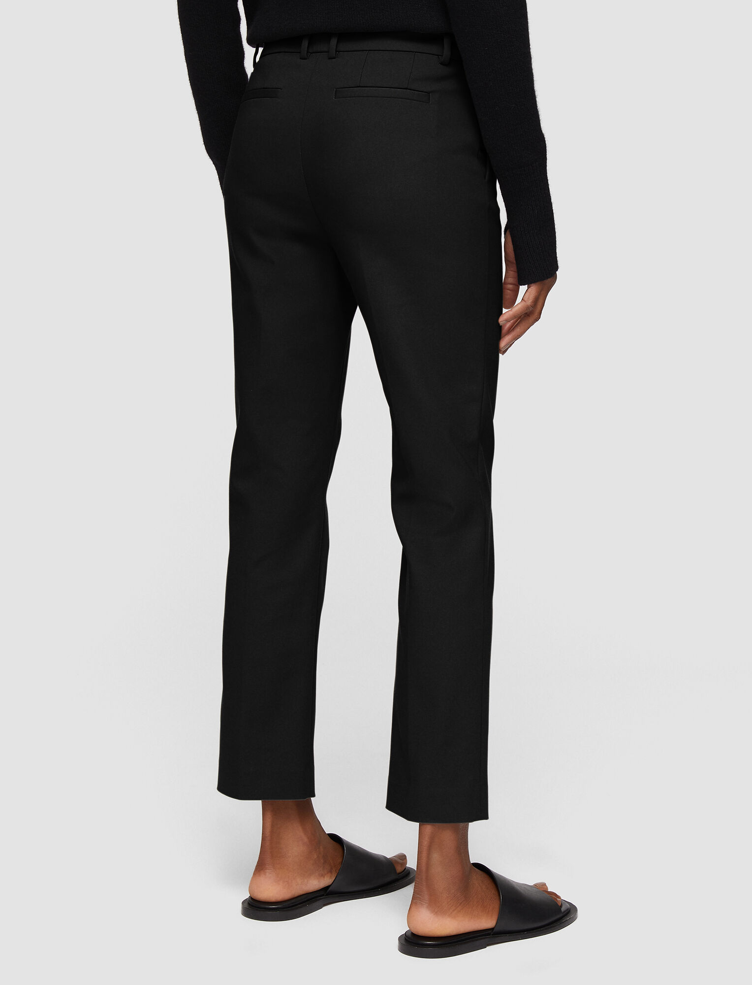 Joseph, Technical Cotton Coleman Trousers, in BLACK