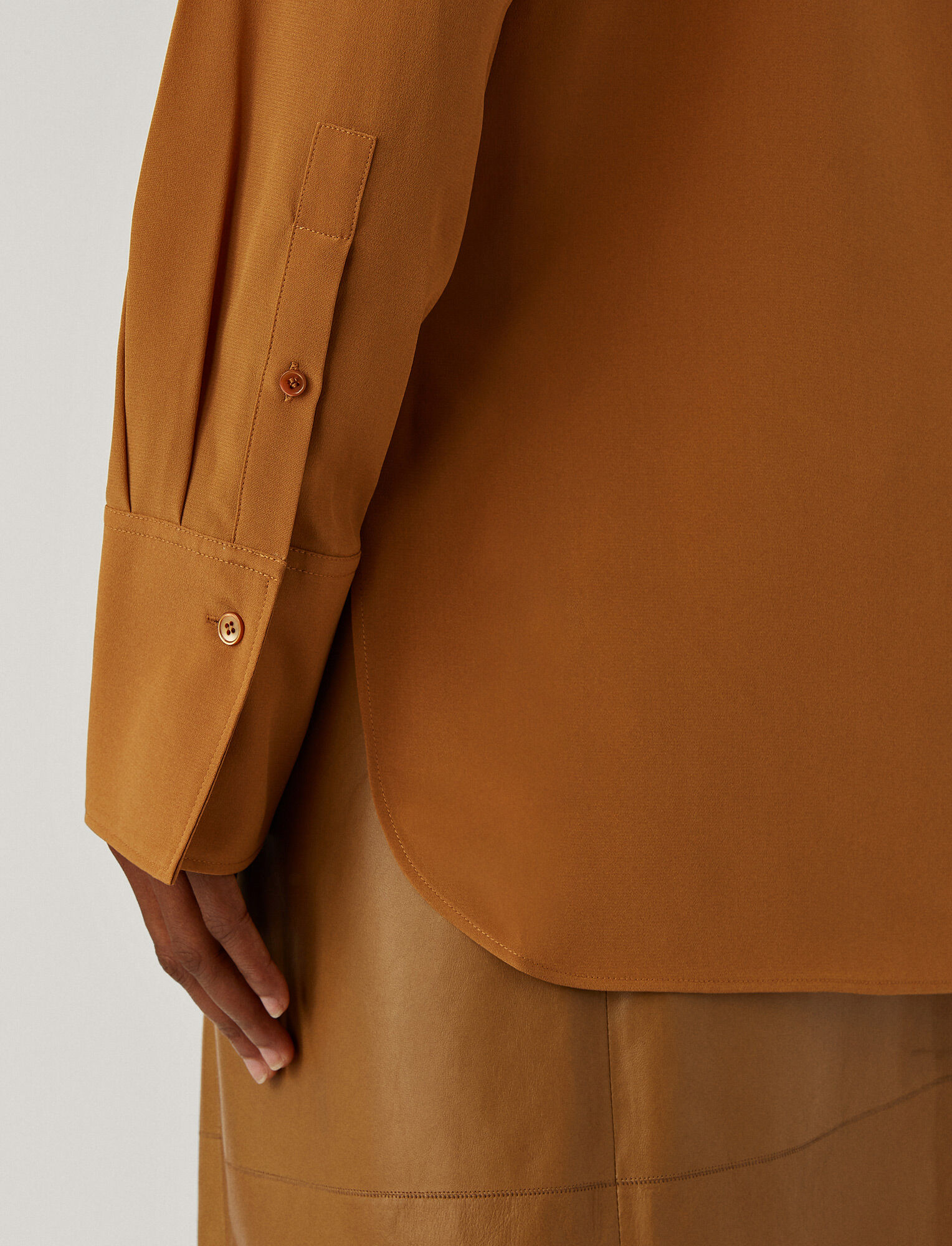 Joseph, Joe Crepe De Chine Blouse, in Cognac