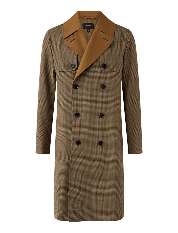 Joseph, Covert Cloth Combi Coat Coats, in Bronze