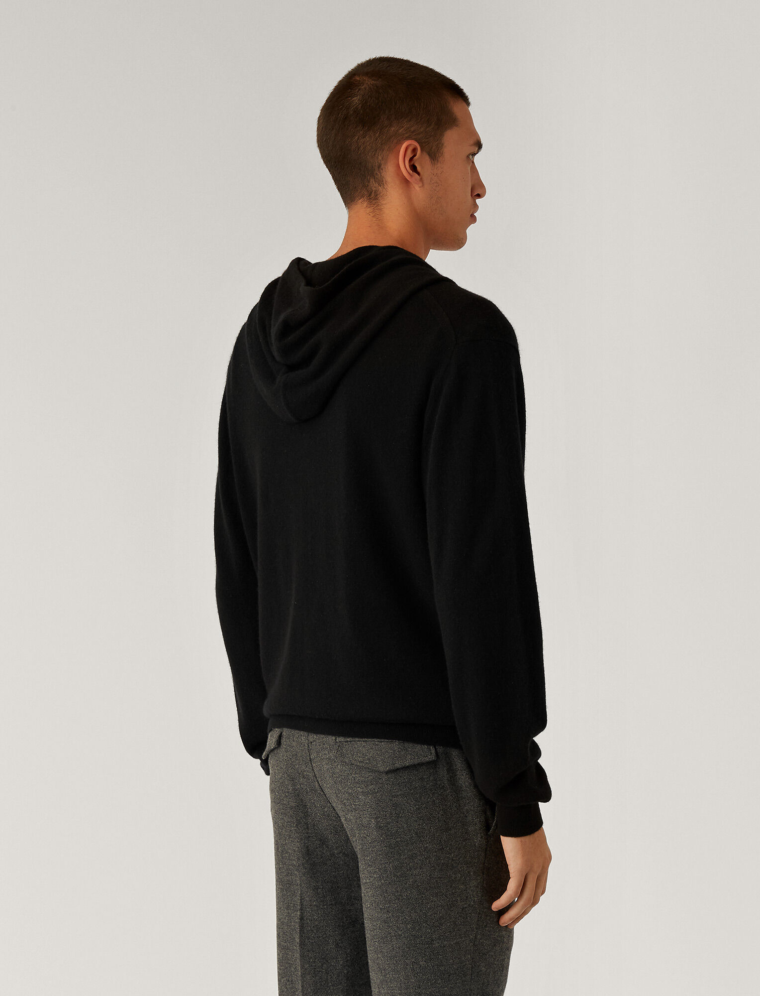 Joseph, Hoodie Cashmere Knit, in Black