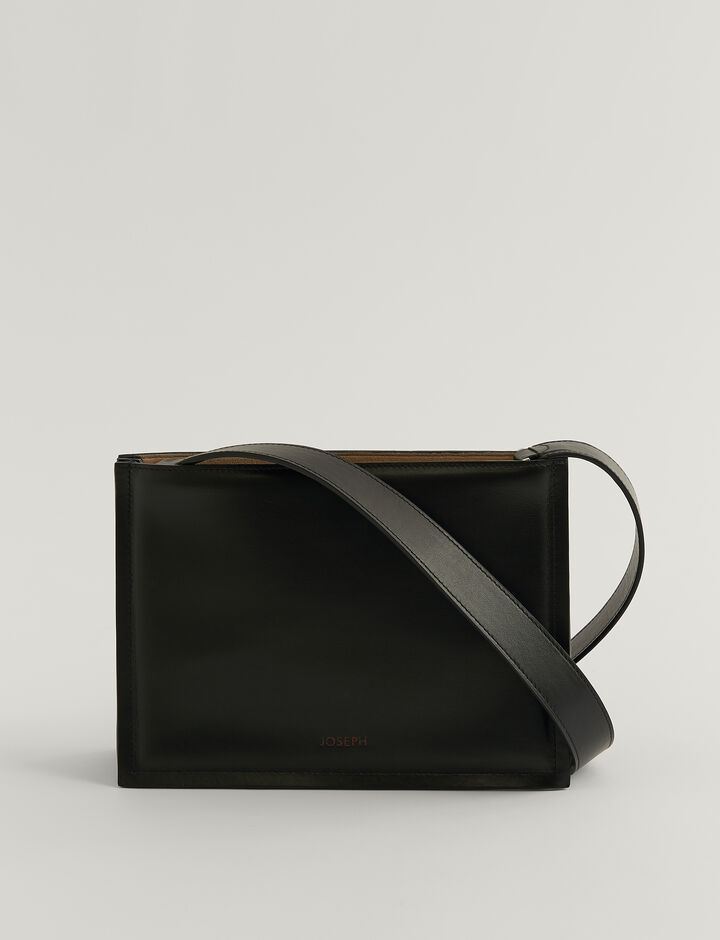 Joseph, TRIPLE BAG-LEATHER, in BLACK