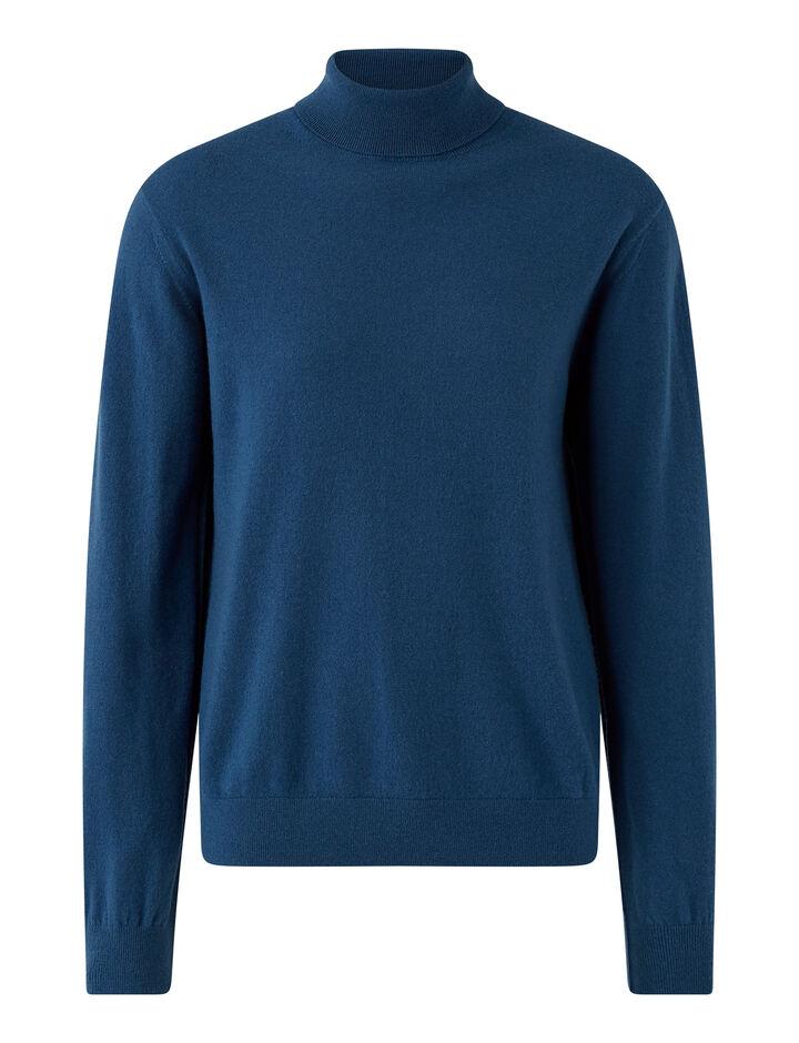 Joseph, Roll Neck Cashmere Knit Knitwear, in Blue