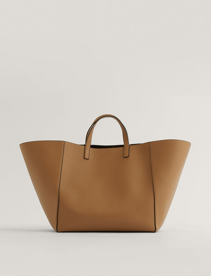 Joseph, Tote-Leather, in SADDLE