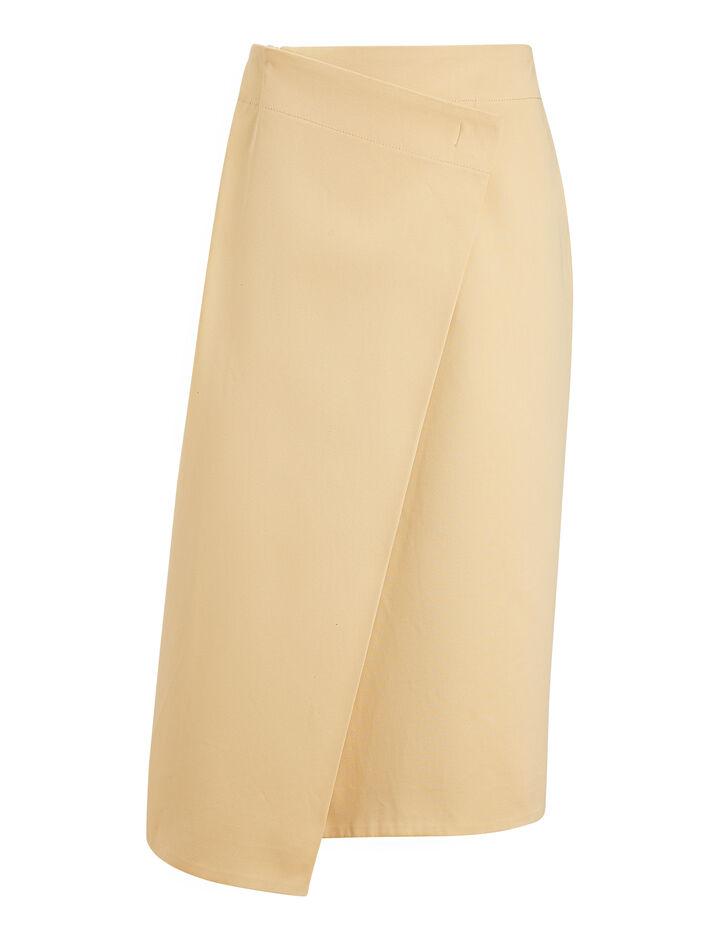 Joseph, Denny Uniform Cotton Skirt, in BANANA