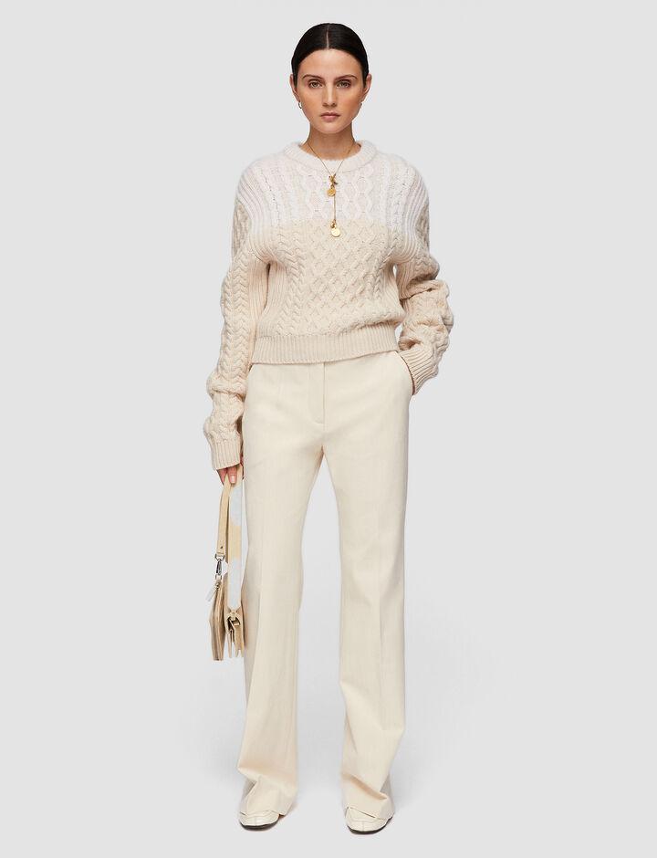 Joseph, Cable Knit Jumper, in Papyrus