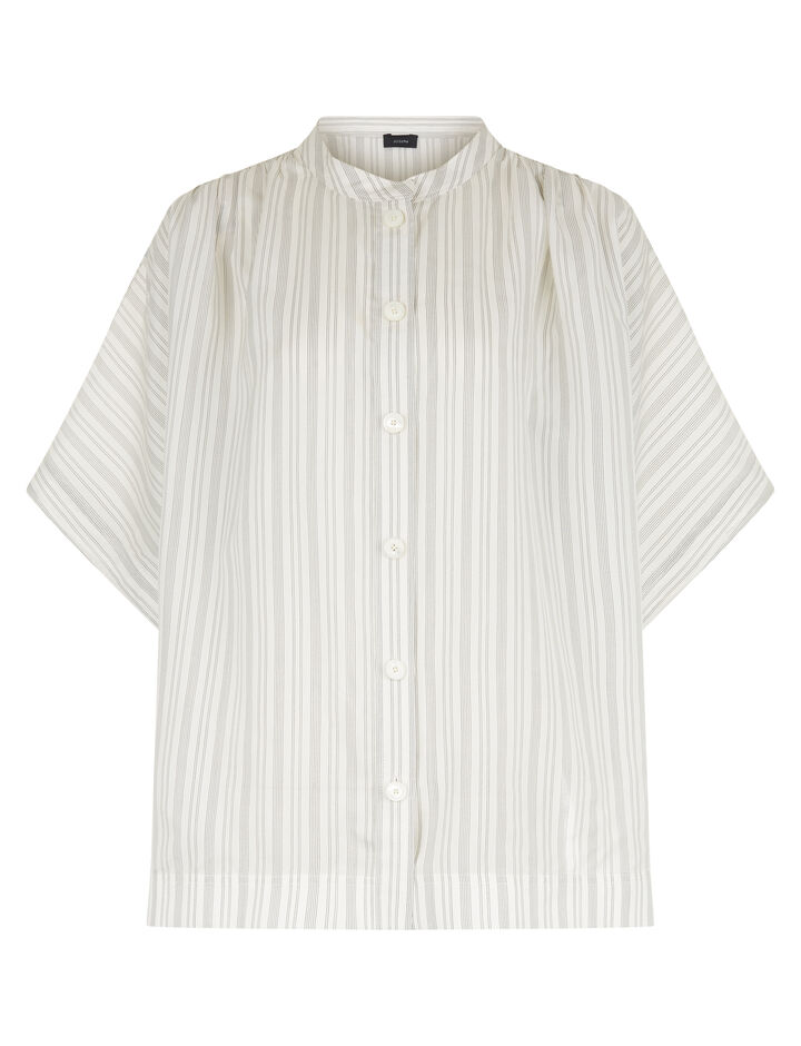 Joseph, Jasper Blanket Stripe Blouse, in ECRU