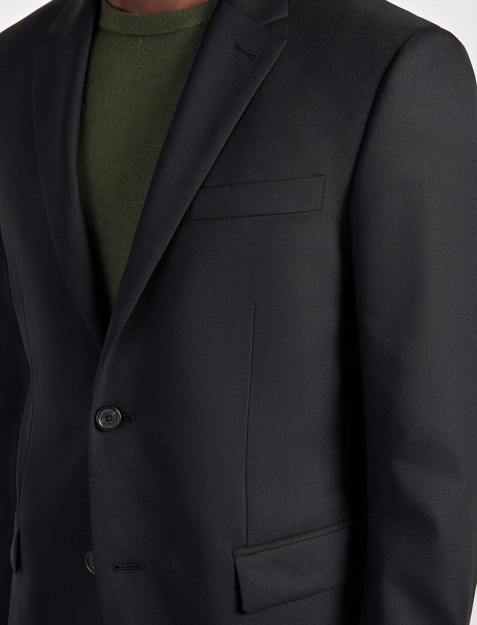 Joseph, Tropical Wool Davide Suit Jacket, in BLACK