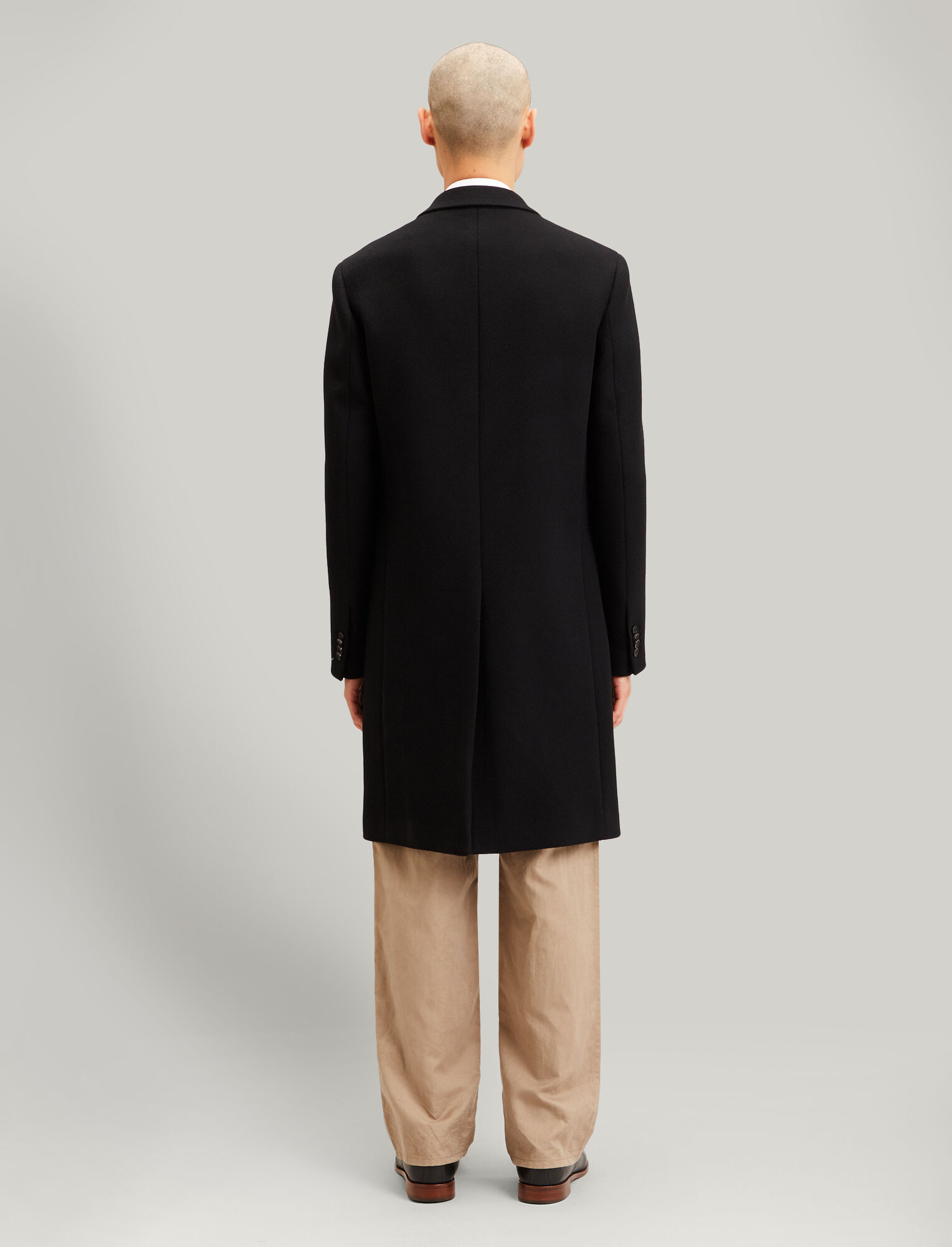 Joseph, London Double Wool Coat, in BLACK