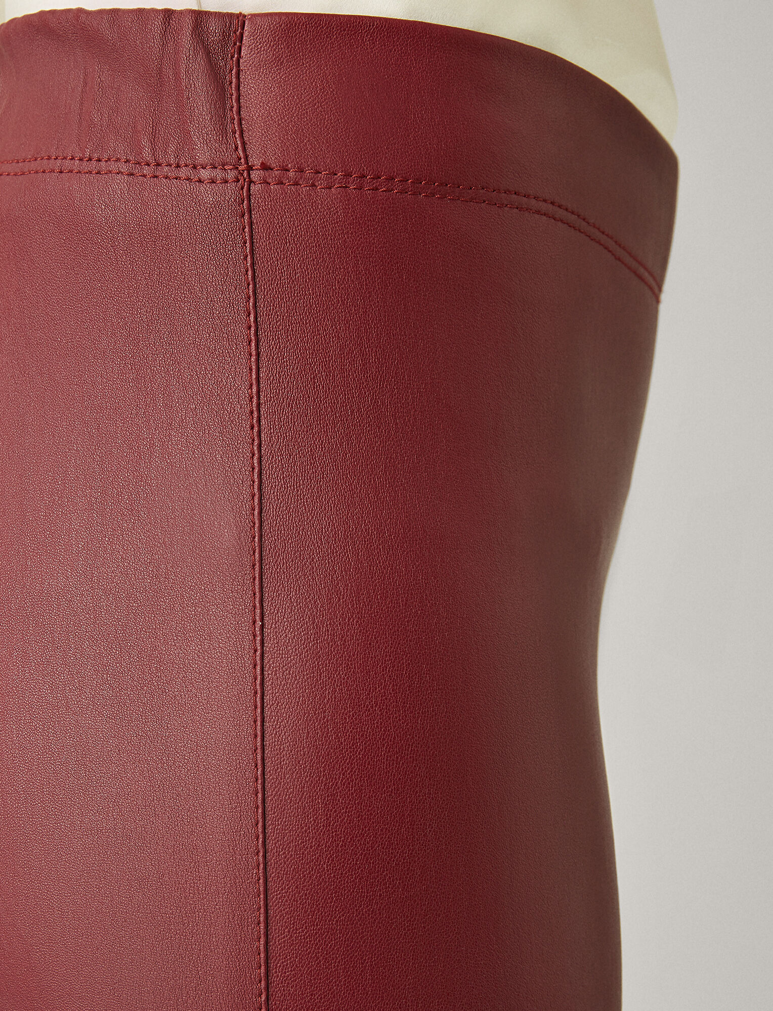 Joseph, Stretch Leather Legging, in GARNET