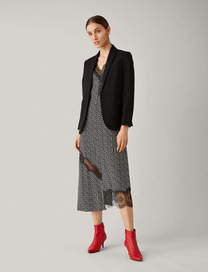 Joseph, Stretch Wool Savoy Jacket, in BLACK
