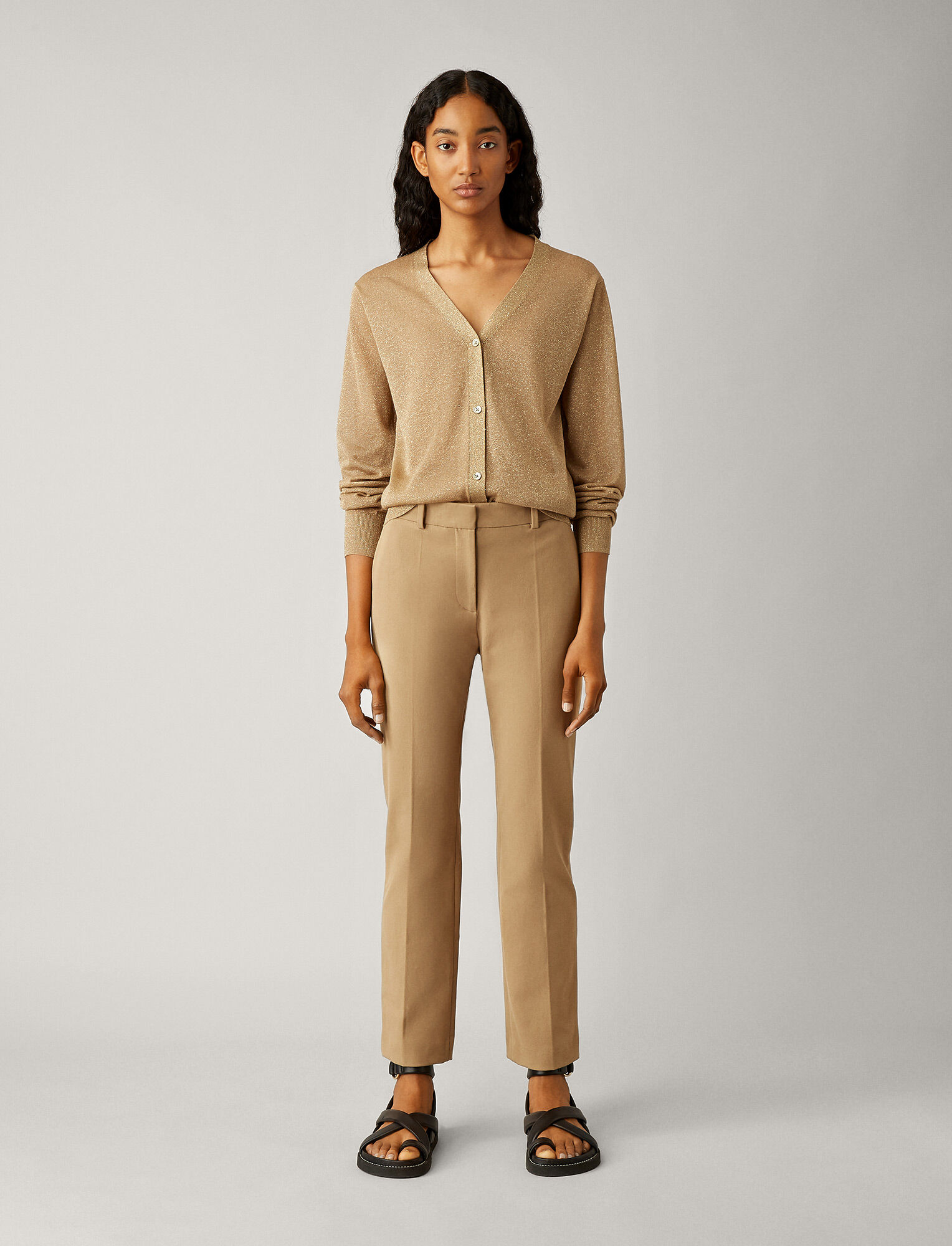 Joseph, Coleman Gabardine Stretch Trousers, in CAMEL
