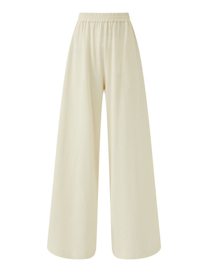 Joseph, Pants-Paper Jersey, in IVORY