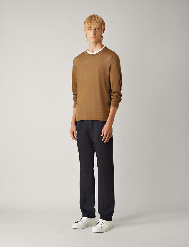 Joseph, Eugene Fine Comfort Wool Trousers, in NAVY