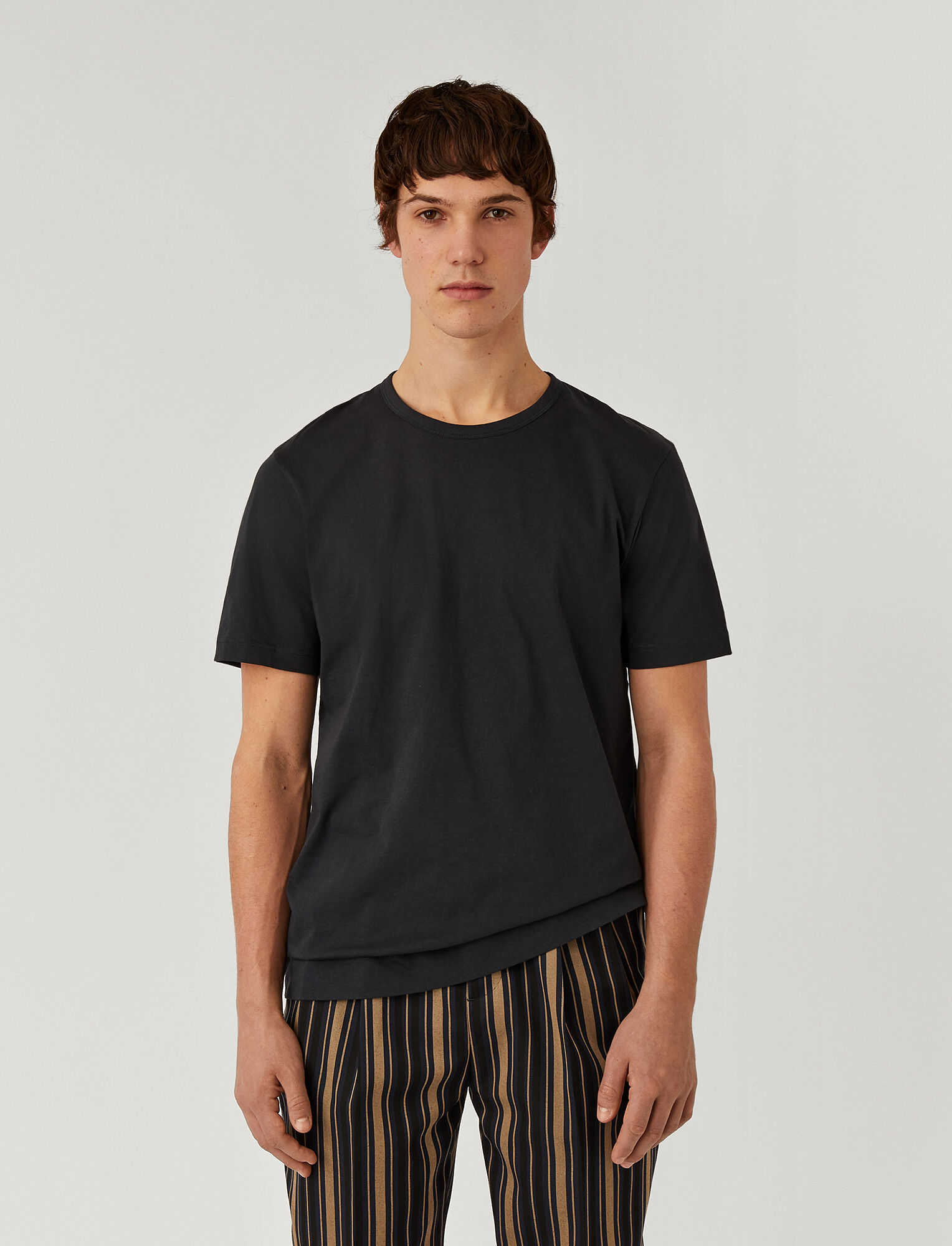 Joseph, Mercerised Jersey Tee, in NAVY