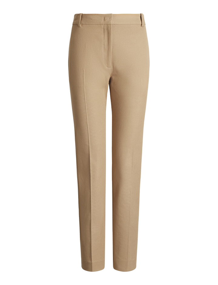Joseph, Zoom Gabardine Stretch Trousers, in PEBBLE