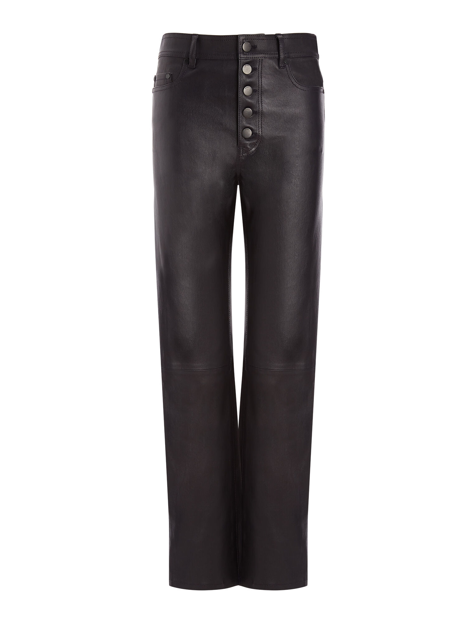 Joseph, Leather Stretch Den Trousers, in NAVY