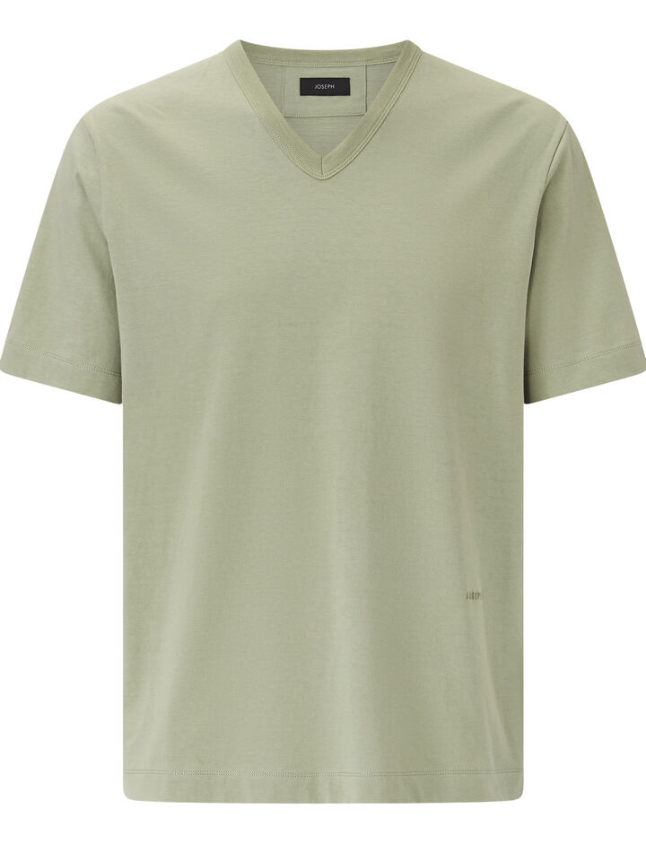 Joseph, V Nk Ss-Perfect Tee, in KHAKI