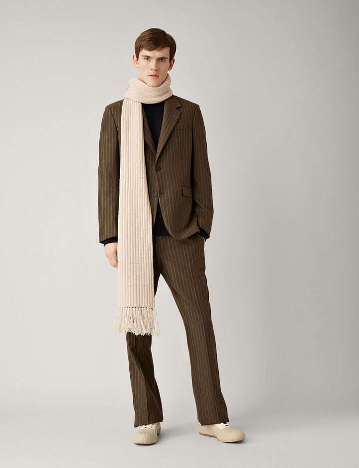 Joseph, Cattiau Pinstripe Wool Jacket, in MUD
