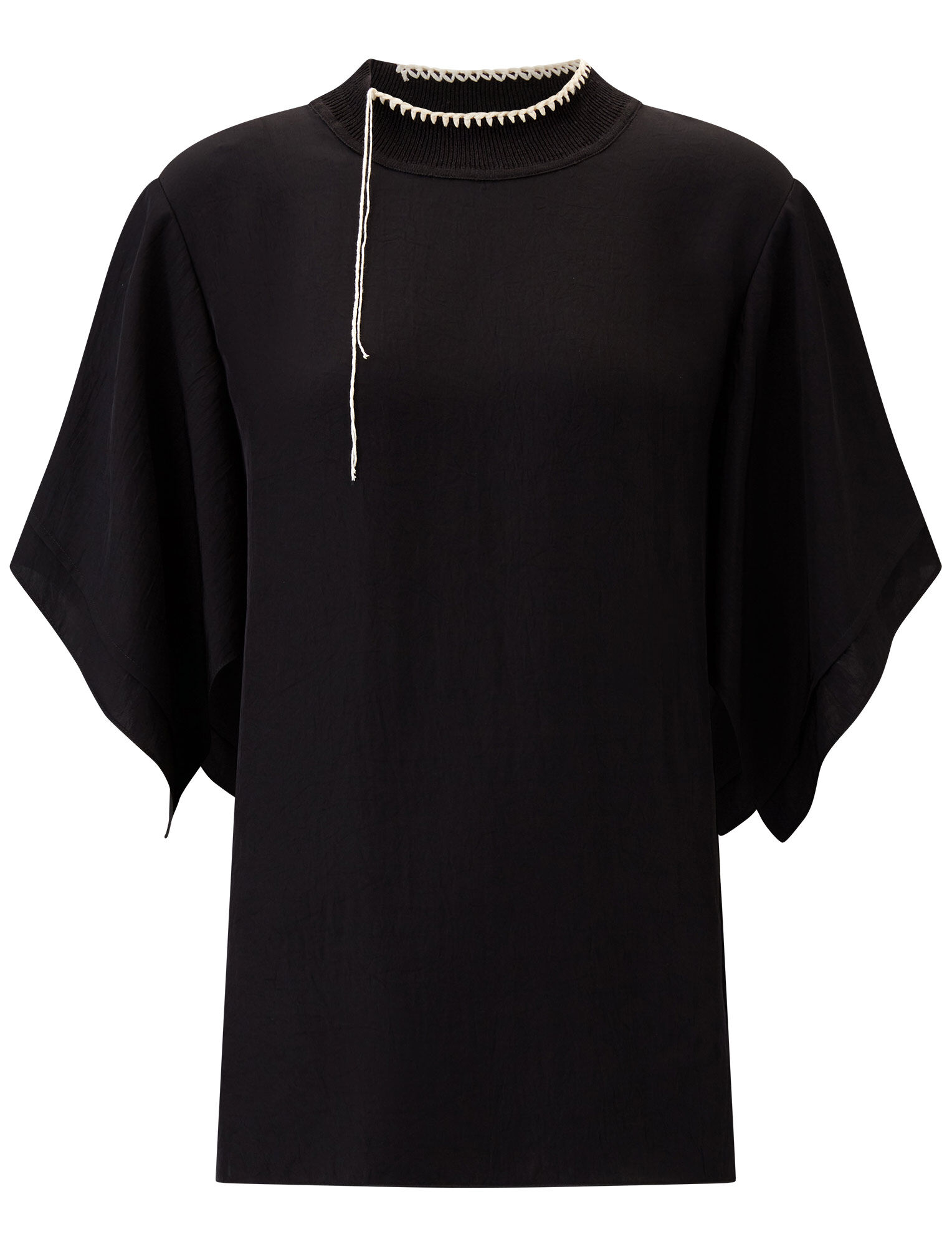 Joseph, Baila Washed Twill Blouse, in BLACK