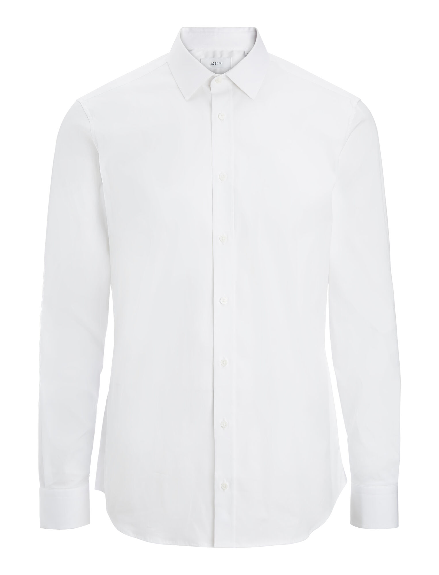 Joseph, Jim Poplin Stretch Shirt, in WHITE