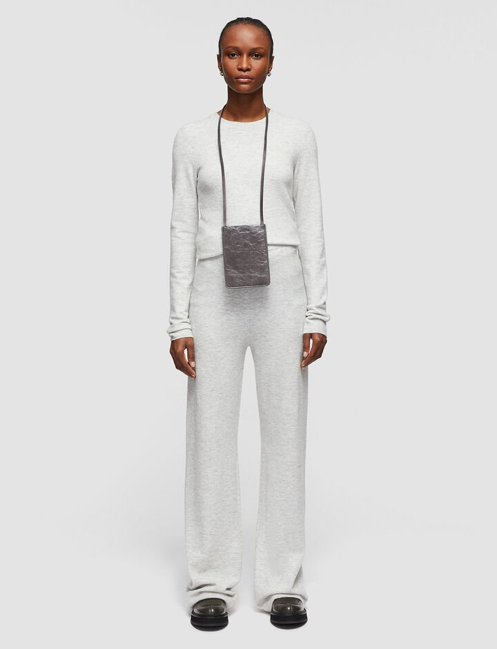 Joseph, Cosy Wool Cashmere Trousers, in PEARL