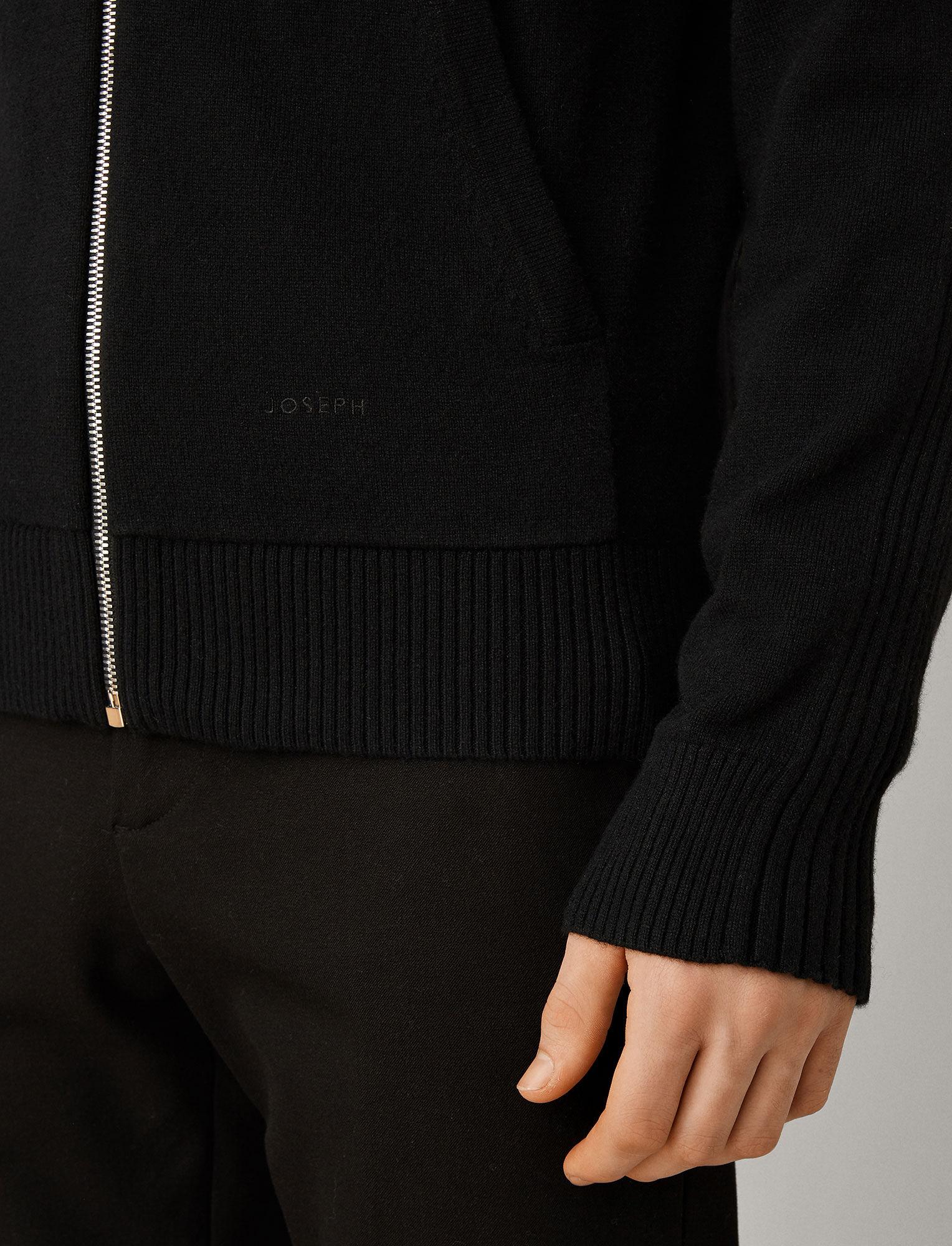 Joseph, Mongolian Cashmere Knit Hoodie, in BLACK