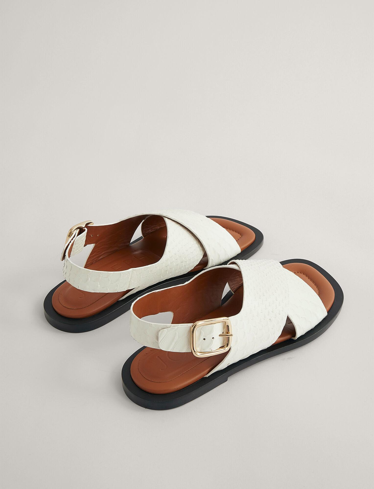 Joseph, Single Criss Cross Sandal, in WHITE